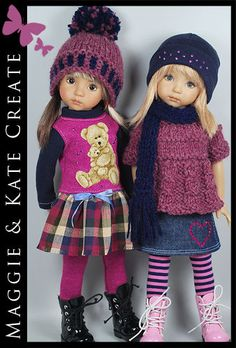 Versatlile FALL Outfit for Little Darlings Effner 13  by Maggie & Kate Create