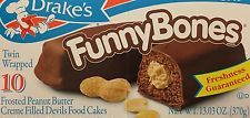 Drake Cakes Funny Bones Peanut Butter & Chocolate! Delicious! FREE SHIPPING!