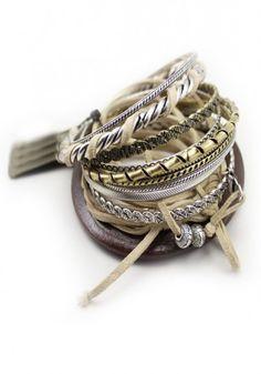 Personalized Multilevels Bronze Bangle Bracelet