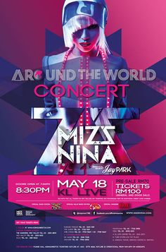korean singers concert posters in usa | Around The World Concert with Mizz NinaMalaysian pop singer hits the ...