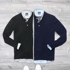 Patterned shirt or plain shirt? Neck tie or open collar? Dark green henley or navy blue? How would you combine these elements to create a killer outfit? Let us know below!   www.Grandfrank.com