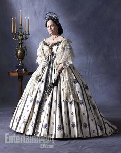 """Sally Field wore this costume, based on two of Mary Lincoln's dresses, in the Spielberg movie """"Lincoln."""""""