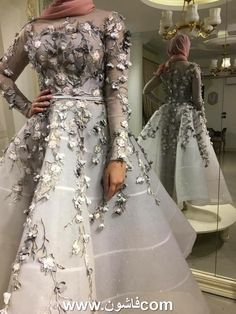 If you have the joy of a nearby dresses Suareh fashion 2018 . Choose the ones that suits you best - Style Evening Dresses Hijab Evening Dress, Hijab Dress Party, Hijab Wedding Dresses, Wedding Dress Sleeves, Bridal Dresses, Evening Dresses, Prom Dresses, Hijab Fashionista, Engagement Dresses