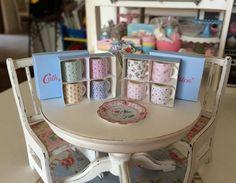 Boxed Set of 4 Shabby Chic MUGS  Dollhouse by BakinginMiniature