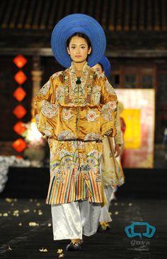 Nhật Bình dress-worn over the áo dài by court ladies of the Nguyễn dynasty