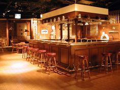 Backless bar stools from the set of the TV show Cheers. Yes, we can get very similar ones at Chattanooga Bar Stools & More!
