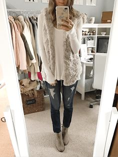 cozy vest and thermal top