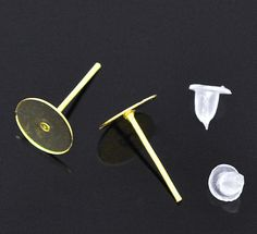 500 (250 Pairs) Gold Plated Earring Post with Rubber Stoppers by SmartParts, $19.99  diy jewelry making