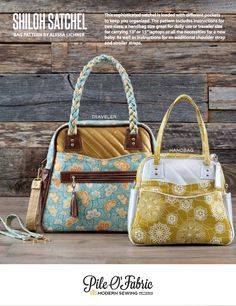 Shiloh Satchel Pattern and Step-by-Step Bag Making Tutorial