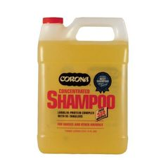 Corona Shampoo 3 Liter (3113) by Summit Industries. $8.95. UNITED STATES. Cleans with a high-suds blend of concentrated ingredients that lift out, foam away stubborn dirt and stains. Lanolin derivatives help restore hair and skin oils to condition, de-tangle. Protein supplement helps strengthen hair, prevent dryness. Gentle to eyes, when used as directed; ph balanced for horses sensitive skin. A Mix Of Surfactants, Detergents And Moisturizers In A Water Base.. Save 74%!