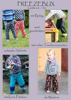 Freezebux, Hose mit vielen Varianten, schmal, weit, Marlene, diverse Taschen, Knie patches, mit beleg... 68-146 - Special - Michelles-RotStich