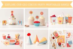 FREE Geo Circus Party Printable Cake Topper ~ Tinyme