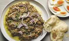 Yotam Ottolenghi's crushed puy lentils with tahini and cumin ALSO Lentils and Mushrooms recipe further below.