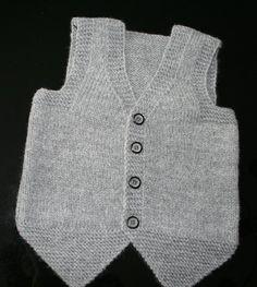 44 Baby Vest Knitting Models You Will Like - Babykleidung Baby Boy Knitting Patterns, Baby Cardigan Knitting Pattern, Hand Knitting, Knit Vest, Baby Boy Vest, Baby Sweaters, Crochet, Beautiful, Handmade Baby