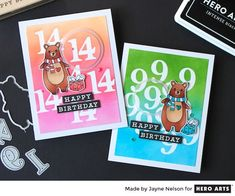 Create personalized greetings with Hero Arts Classic Numbers Fancy Dies