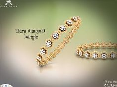 With the beat and beauty of bangles! #diamond #bangles  #diamondbangle #goldbangle #bangleonlineshopping #traditionabangle #casualbangle
