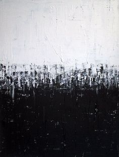 Abstract painting modern black and white minimalist