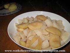 Gestoofde meiraap met appels