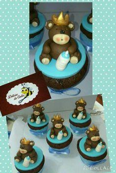Cupcake decorado Ursinho Príncipe