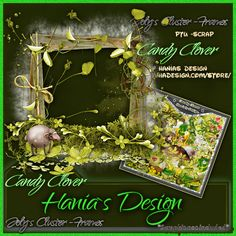 Candy clover-cluster-02 [HaniaDesign] - $0.50 : Hanias Design Store Design, Candy, Frame, Picture Frame, Sweets, Frames, Hoop, Candy Bars, Picture Frames