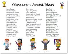 Classroom Awards Make Kids Feel Special!