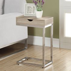 Monarch I 32 Reclaimed-Look Metal Accent Table - Give your living room a chic accent with the Monarch I 32 Reclaimed-Look Metal Accent Table. The sleek look of the sturdy metal base provides a beauti...