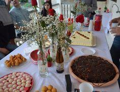 Decoração para mesa - flores - rosas - DIY - faça você mesmo