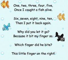 Fish Alive Song as seen on Kindergarten Klub http://www.kindergartenklub.com/