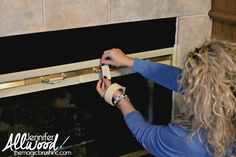 Paint gold Fireplace Trim - Rustoleum high heat spray (but I would take the screen outside to paint)