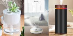 10 Mini USB Humidifiers You Didn't Know You Needed #electronic Small Humidifier, Portable Humidifier, Mini Plants, Small Plants, Tiny Cactus, Apple Iphone 7 32gb, Light Ring, Humidifiers, Blue Square
