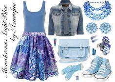 Crafty Lady Abby - FASHION: Monochrome: Light Blue