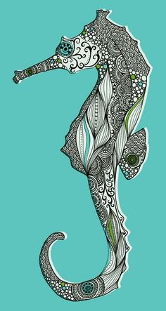 Most intricate seahorse print...i love!
