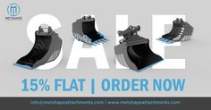 Metshape Attachments offers high quality excavator attachments at a Flat Discount of 15%.  #MetshapeAttachments #Metshape #Attachments #Excavator #Hardox #HardoxSteel #HardoxInMyBody #JCB #Komatsu #BobCat #Yanmar #Volvo #Hitachi #Norway #Norge #Sweden #Sverige #Finland #Scandinavia #Europe #EarthMoving #Construction #Anleggsmaskiner #Gravemaskin #Graveskuffer #GravemaskinVedlegg #GravemaskinSkuffer #Minigraver #DiggingBucket #HighQuality #ExcavatorAttachments