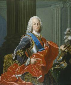 Fernando VI, hijo de Felipe V y MªLuisa Gabriela de Saboya. Louis Michel Van Loo