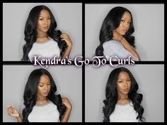 Kendra's Updated Go To Curls + How to Properly Curl Hair - YouTube