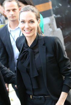 Angelina Jolie  Saint Laurent look