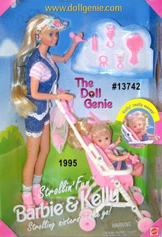 Strollin Fun Barbie and Kelly Giftset