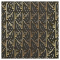 This ornate design features an Art Deco style geometric pattern in gold foil on the background color of your choice. Search to see other products with this design. Art Deco Fabric, Motif Art Deco, Art Deco Pattern, Art Deco Design, Diy Design, Custom Design, 1920s Art Deco, Art Deco Fashion, Decoration