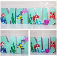 Letras 3D Pequena Sereia Ariel
