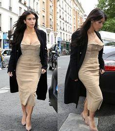 Kim Kardashian shopping in Paris, May 2014.