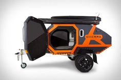 Add a touch of luxury to your off-road weekend expedition with the Sherpa Off-Road Camper. These innovative off-road camper trailers are designed to . Trailer Off Road, Off Road Teardrop Trailer, Teardrop Caravan, Off Road Camper Trailer, Tent Campers, Teardrop Campers, Expedition Trailer, Overland Trailer, Expedition Vehicle