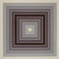View Concentric Square By Frank Stella; 160 x 160 cm. Access more artwork lots and estimated & realized auction prices on MutualArt. Post Painterly Abstraction, Abstract Art, Frank Stella Art, Modern Art, Contemporary Art, Modern Hepburn, Square Art, New York Art, Mid Century Art