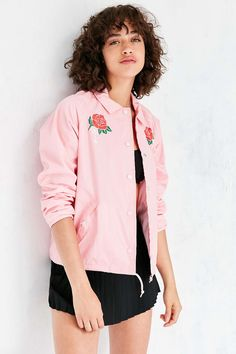 85980a25a8b4 OBEY Spider Rose Coach Jacket
