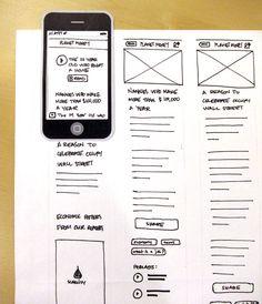 Paper prototyping NPR's iPad app | Prototyping Examples ...