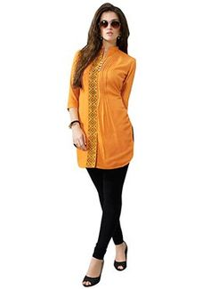 Women s Clothing - Festival Wear Readymade Yellow Rayon Tunic - 19001 - Product Details : Style : Stitched Designer Party/Festival Wear Tunic, Kurti Type : Fully Stitched&nbsp Festival Wear, Festival Outfits, Beauty Redefined, Latest Tops, Online Collections, Western Dresses, Tunic Tops, How To Wear, Fashion Design