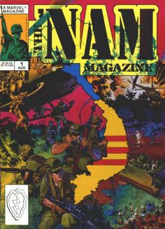 The 'Nam Magazine #1 August 1988 from a #1 - 5 run, NM-NM/M, 2 stories from the Marvel comic book series reprinted in each issue with extra material, Michael Golden covers and artwork in all. All 5 for $22