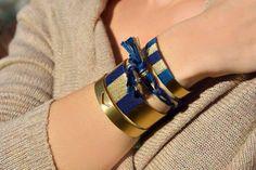 """Manchettes/Bracelets """"Indra"""" Création en édition limitée - Bijoux ethnique bohème. Disponible dans la boutique @bijouxsansfin #bijoux #bracelets #manchette #ethnique #bohème #laiton #création  http://www.sansfin.fr"""