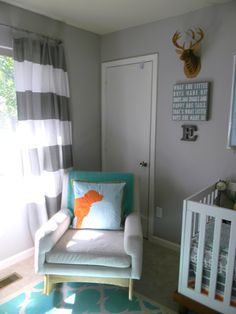 Rocking chair, door, window and crib corner just like ours.