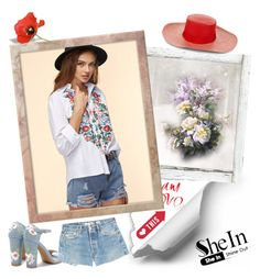 """""""Shein blouse"""" by irinavsl ❤ liked on Polyvore featuring RE/DONE and Sensi Studio"""