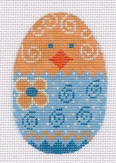 Chickie Egg Hand Painted Needlepoint Canvas   eBay
